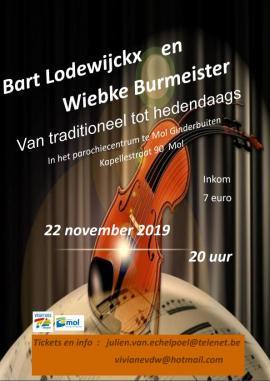 Flyer concert Bart lodewijckx en Wiebke Burmeister
