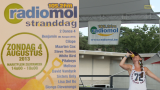 """Slons Dievanons met """"Lacht nor mij"""" op de Radio Mol Stranddag"""