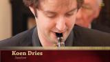 Koen Dries op saxofoon